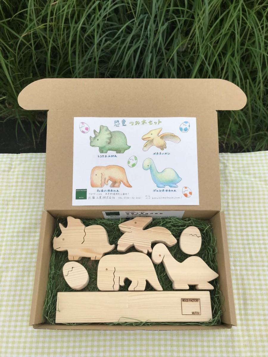 恐竜つみきセット