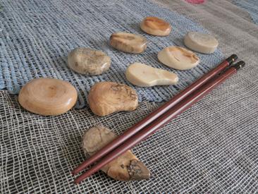 木輪(こわ)の箸置き